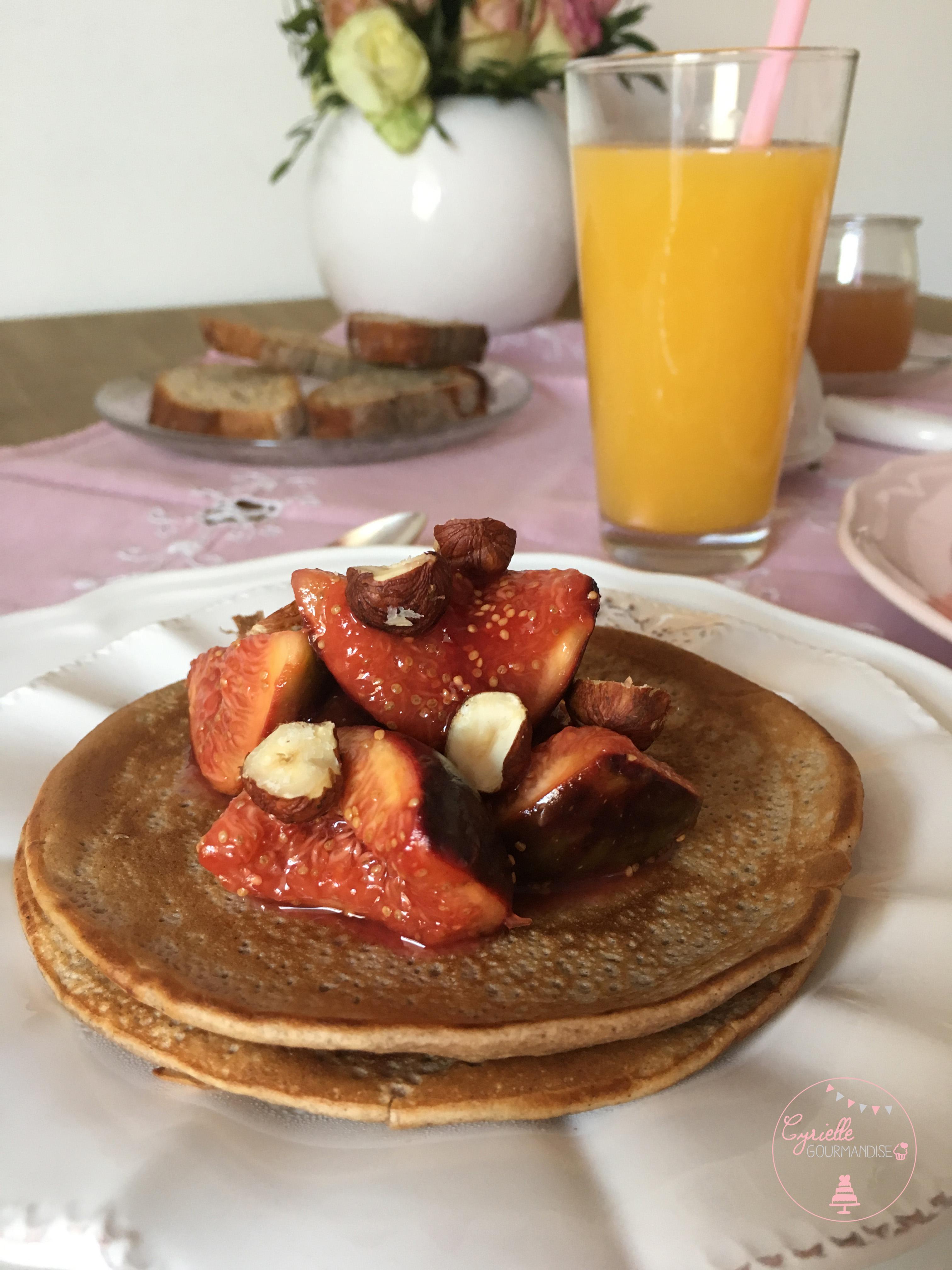 Pancakes chataigne poêlée figues 2