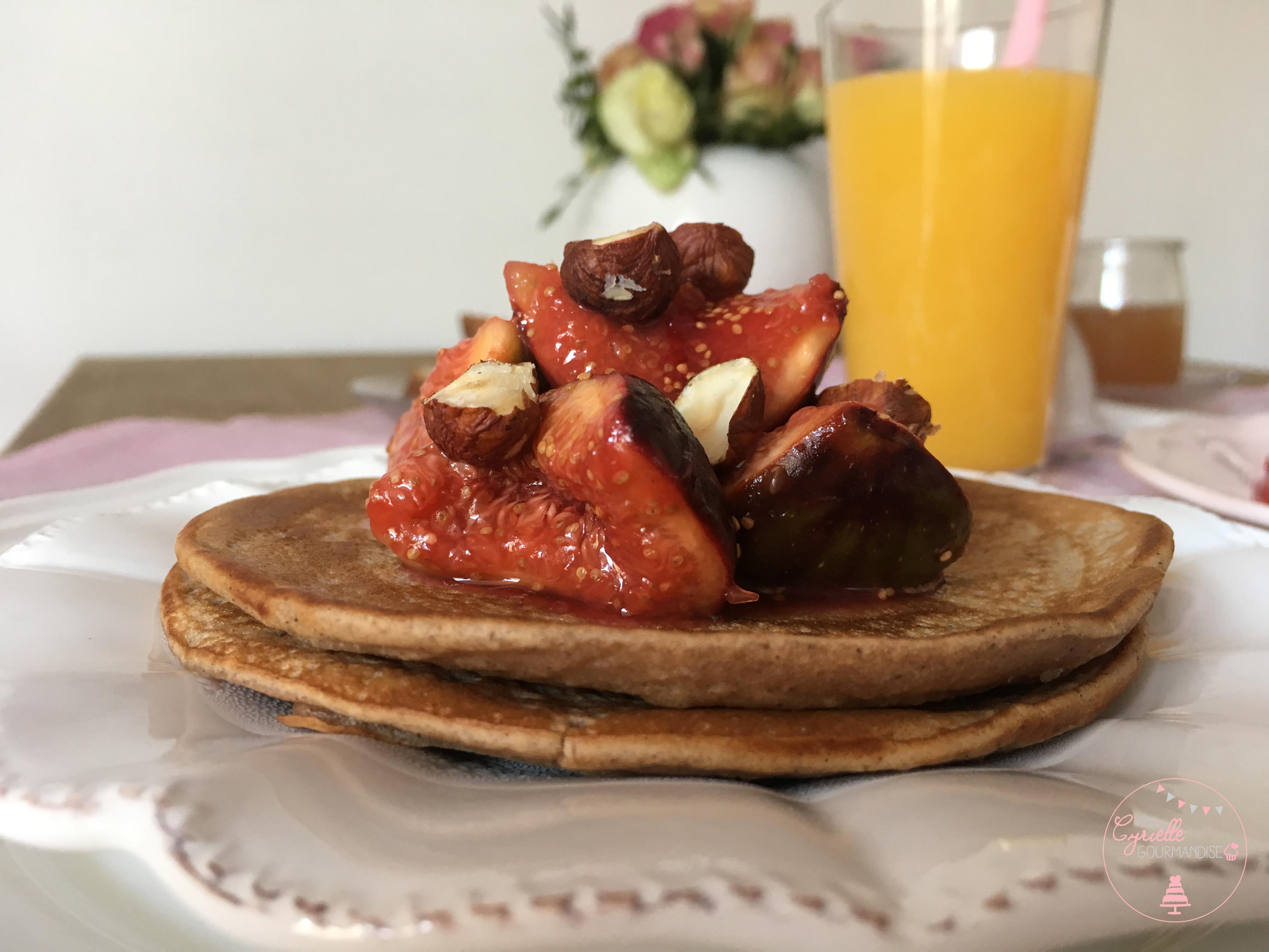 Pancakes chataigne poêlée figues 4