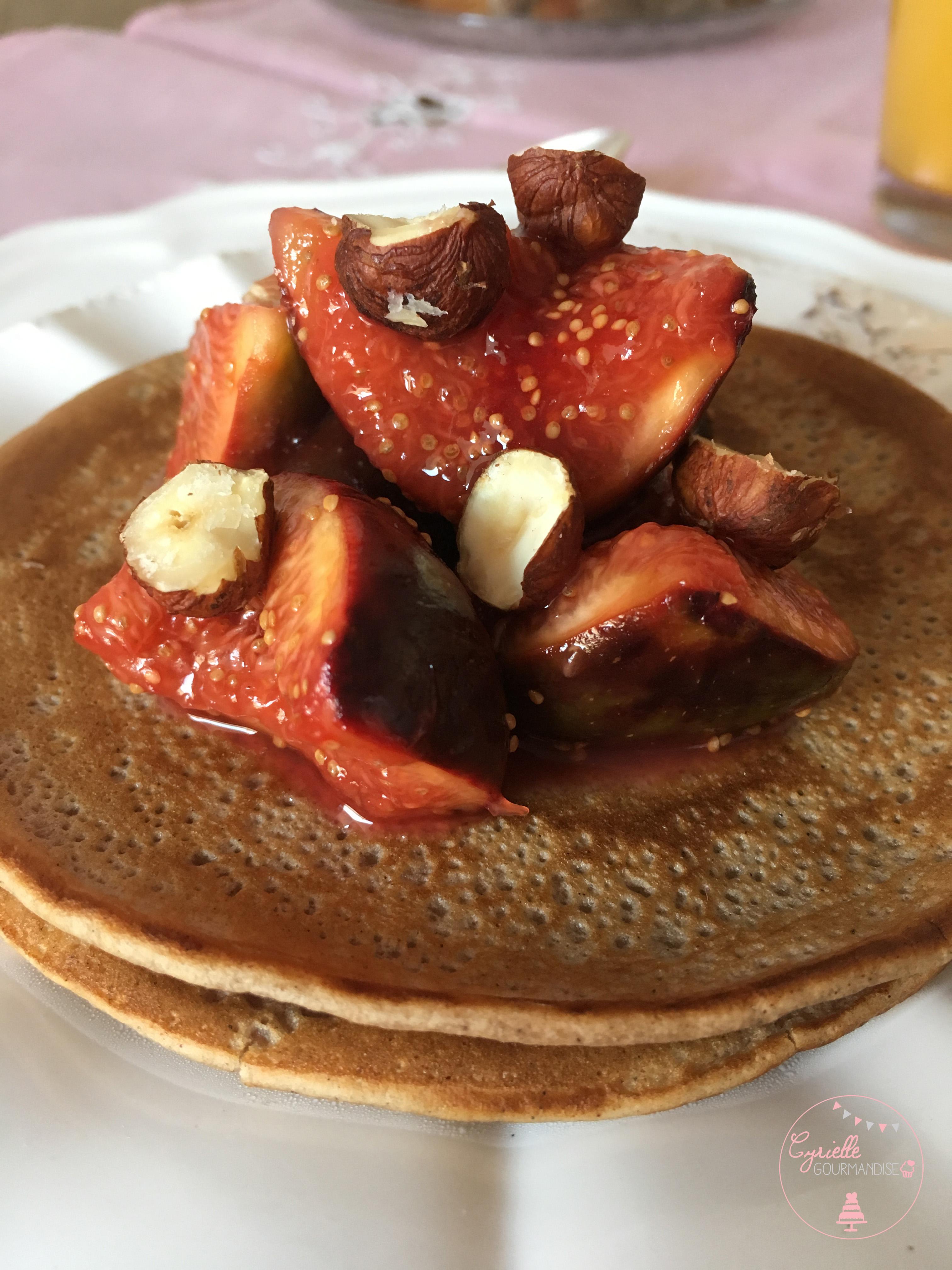 Pancakes chataigne poêlée figues 5